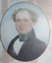 Dr. John H. Bayne of Salubria: Close-up of portrait on near-by marker image. Click for full size.
