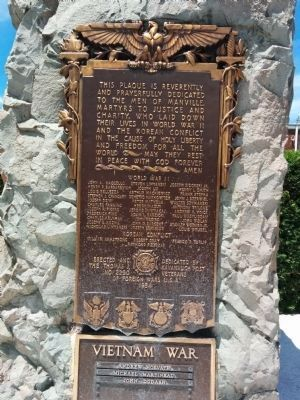Manville VFW War Memorial image. Click for full size.