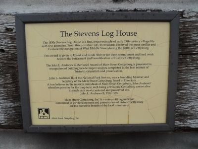 The Stevens Log House Marker image. Click for full size.