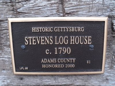 Second Stevens Log House Marker image. Click for full size.
