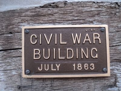 Civil War Building Marker image. Click for full size.