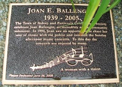Joan Ballenger Mayor's Community Builder Award Marker image. Click for full size.