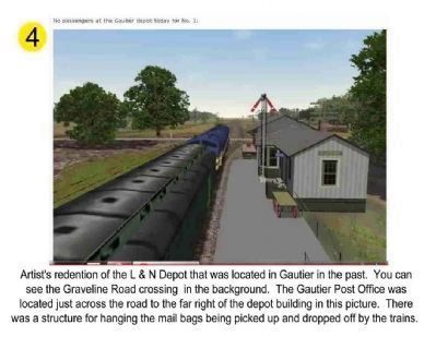 Artists concept of L & N Depot, Gautier, Ms. image. Click for full size.