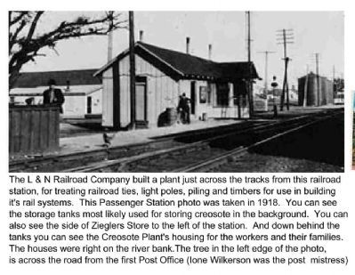 Actual L&N Depot Built at the same time the Creosote Plant was built. image. Click for full size.