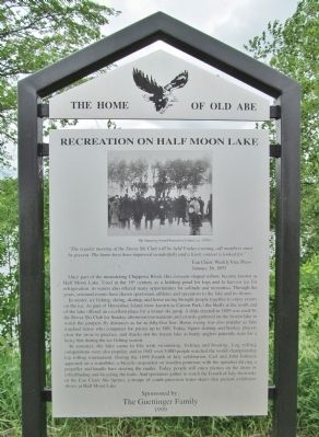 Recreation on Half Moon Lake Marker image. Click for full size.