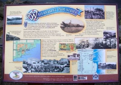 Waterfront Industries Marker image. Click for full size.