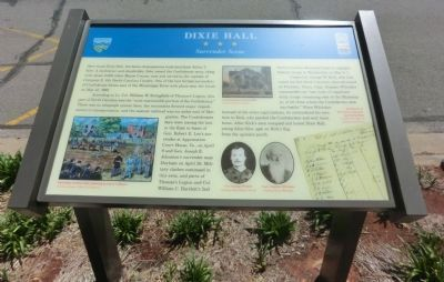 Dixie Hall Marker image. Click for full size.