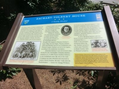 Zachary-Tolbert House Marker image. Click for full size.