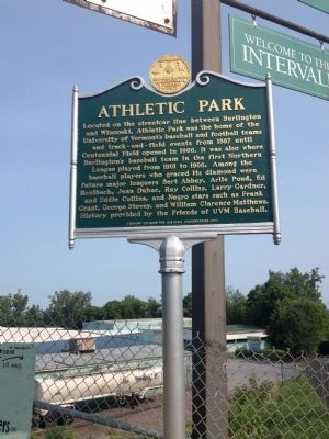Athletic Park Marker image. Click for full size.