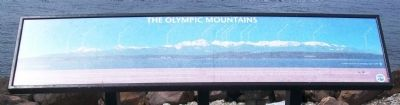 The Olympic Mountains Marker image. Click for full size.