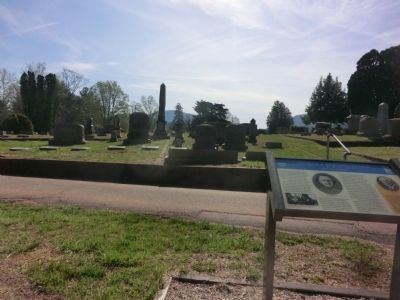 Thomas's Resting Place-Thomas's tombstone in the background image. Click for full size.
