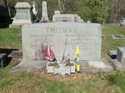 Thomas's Tombstone-Front view image. Click for full size.