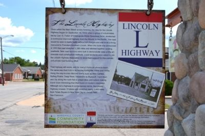 Historic Crossroads of America / The Lincoln Highway Marker image. Click for full size.