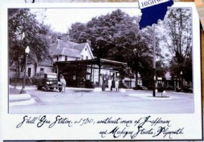 Shell Gas Station c. 1930 image. Click for full size.