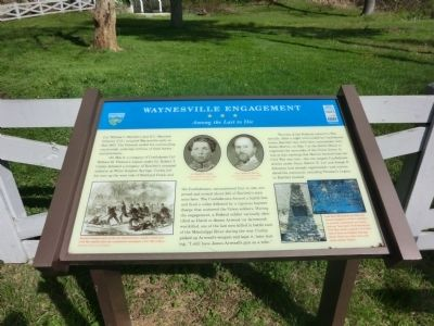 Waynesville Engagement Marker image. Click for full size.