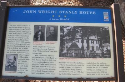 John Wright Stanly House Marker image. Click for full size.