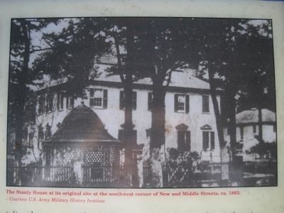 Close up of image on John Wright Stanly House Marker image. Click for full size.