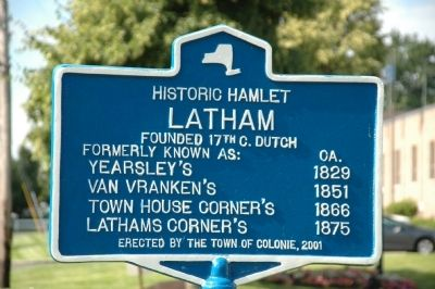 Latham Marker image. Click for full size.