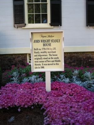 A related John Wright Stanly House Marker image. Click for full size.