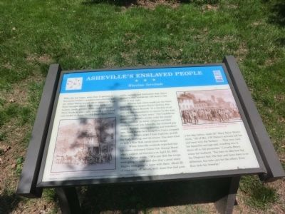 Asheville's Enslaved People Marker image. Click for full size.