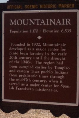 Mountainair (East) Marker image. Click for full size.