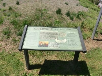 Nikwasi Mound-Cherokee Heritage Trails image. Click for full size.