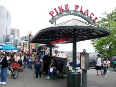 Welcome to The Public Market Marker image. Click for full size.