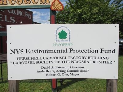 NYS Environmental Protection Fund Sign image. Click for full size.