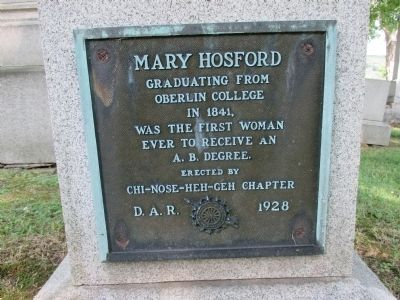 Mary Hosford Marker image. Click for full size.