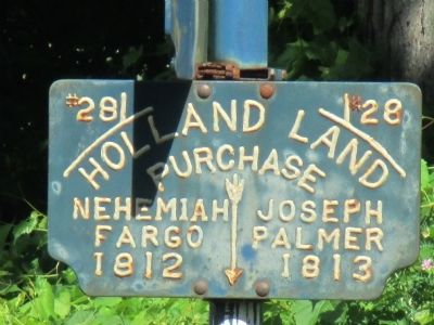 Property Marker on the Old Pioneer Cemetery Signpost image. Click for full size.