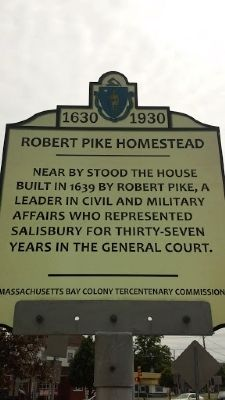 Robert Pike Homestead Marker image. Click for full size.