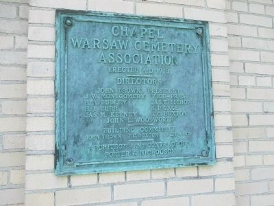 Warsaw Chapel Plaque image. Click for full size.
