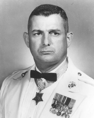 Col. Archie Van Winkle, USMC, MOH image. Click for full size.