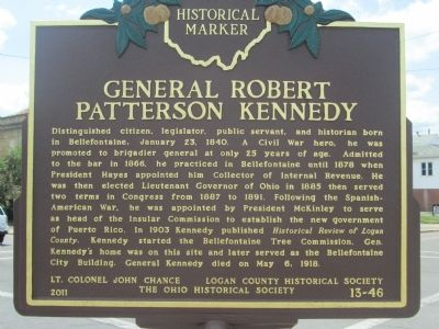 General Robert Patterson Kennedy Marker image. Click for full size.