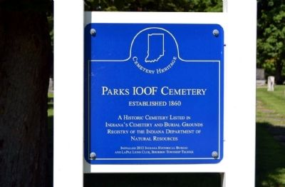 Parks IOOF Cemetery Marker image. Click for full size.