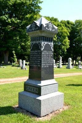 Grave Headstone of John Greer (1806-1899)<br>and Penelope Greer (1814-1890) image. Click for full size.