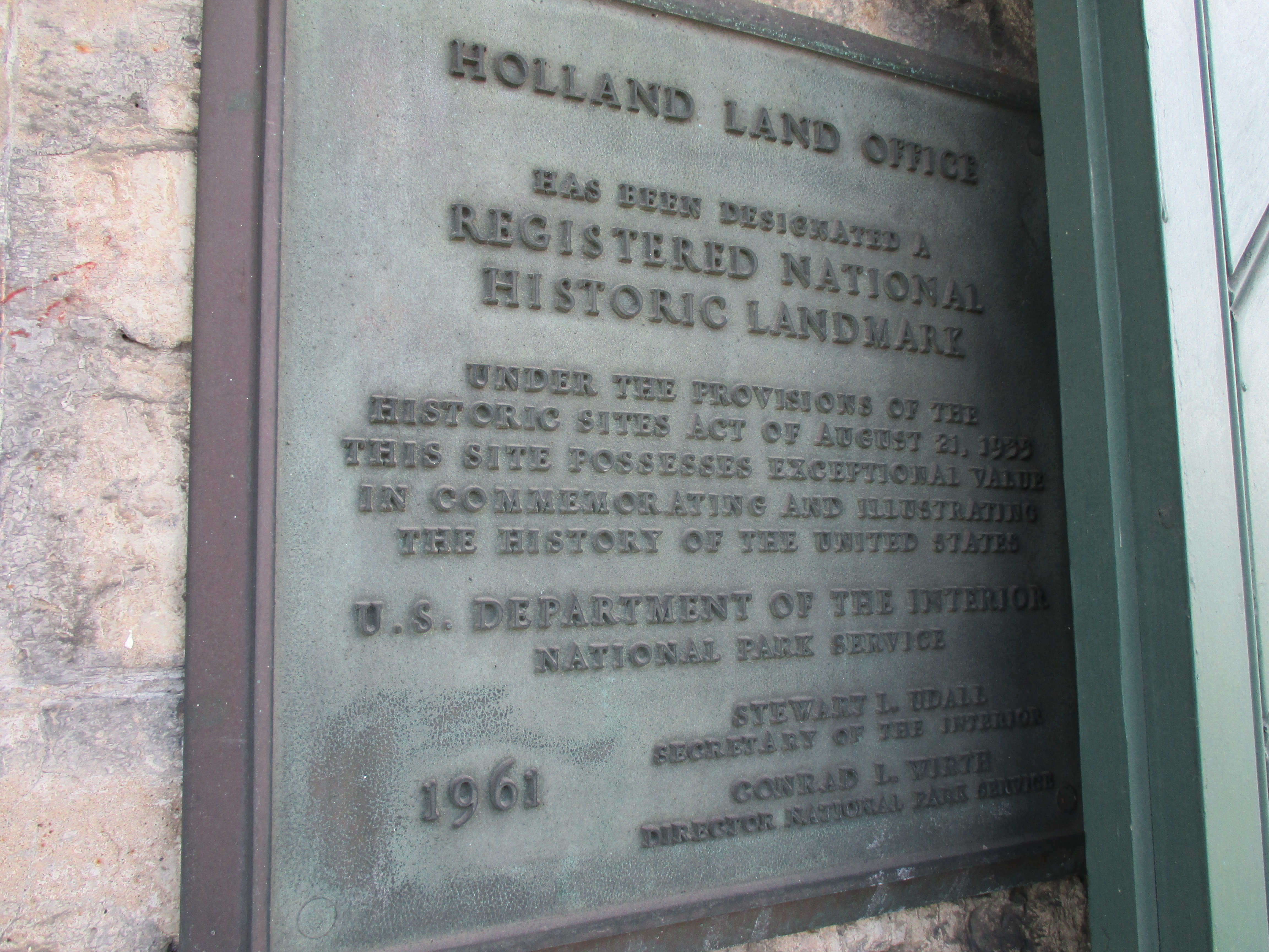 Registered National Historic Landmark Plaque