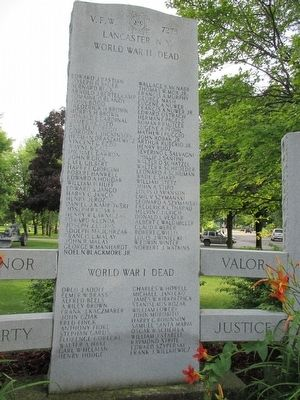 Lancaster NY War Memorial image. Click for full size.