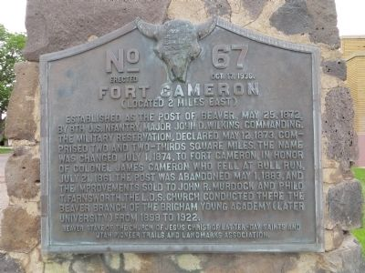 Fort Cameron Marker image. Click for full size.