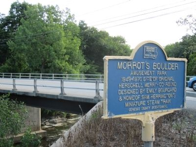 Morrot's Boulder Amusement Park Marker and Bridge image. Click for full size.
