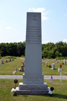 Walkerton World War II Memorial image. Click for full size.