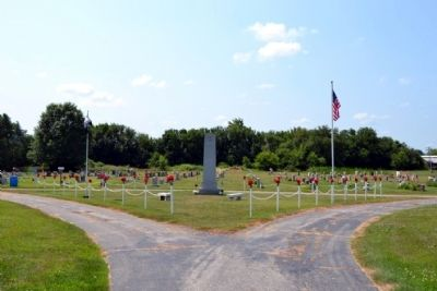 Walkerton World War II Memorial in Woodlawn Cemetery image. Click for full size.