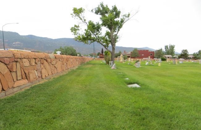 Cedar City Historic Pioneer Cemetery Wall image. Click for full size.
