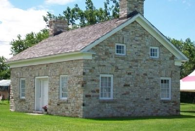 Historic Stone Home Replica on Hammond Museum Grounds image. Click for full size.