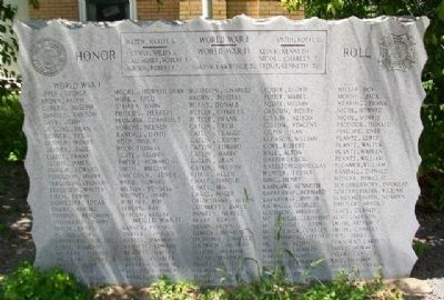 World Wars Memorial image. Click for full size.