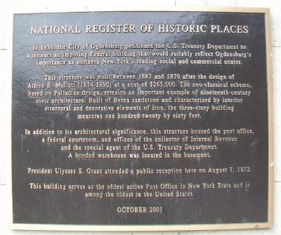 Federal Building (United States Courthouse) Marker image. Click for full size.