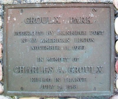 Groulx Park Marker image. Click for full size.