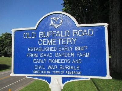 Old Buffalo Road Cemetery Marker image. Click for full size.