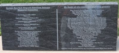 Western New York Hispanic American Veterans Memorial Committee ... image. Click for full size.