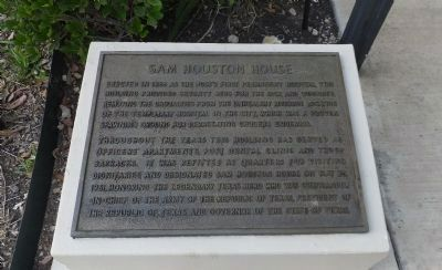 Sam Houston House Marker image. Click for full size.